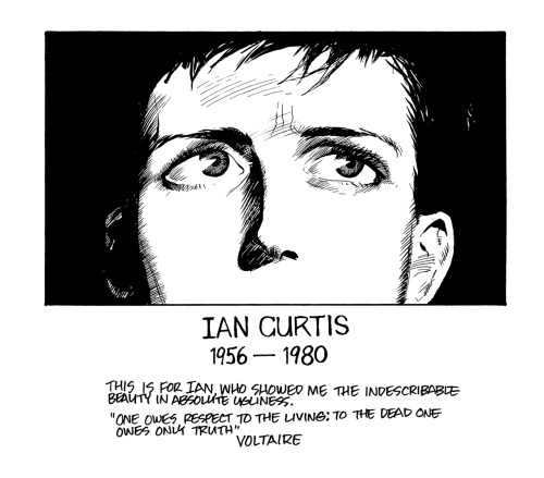 L'hommage de James O'Barr à Ian Curtis