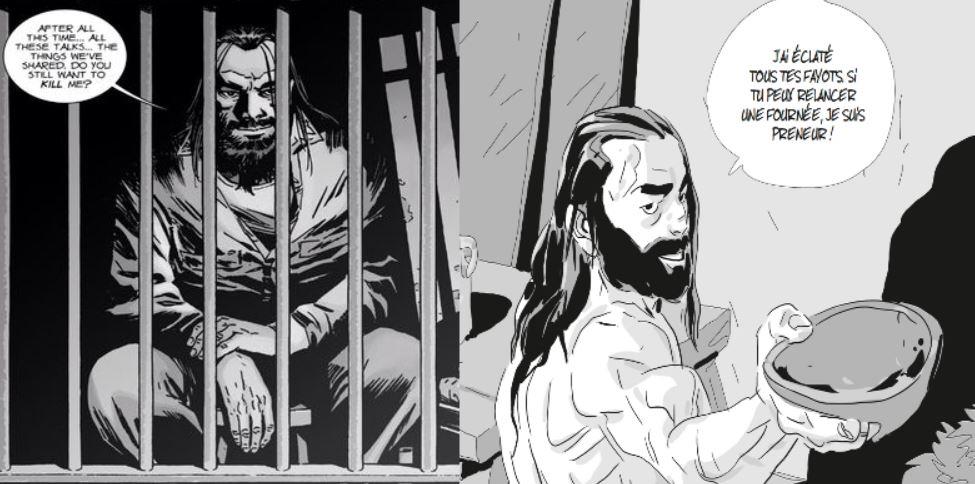 Cest moi où Rihard Aldana à droite) ressemble à sy méprendre à Negan de Walking Dead à gauche )
