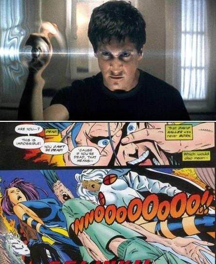 Comme pour certains X-men (ici Bishop et Légion), le destin de Donnie est lié aux paradoxes temporels!