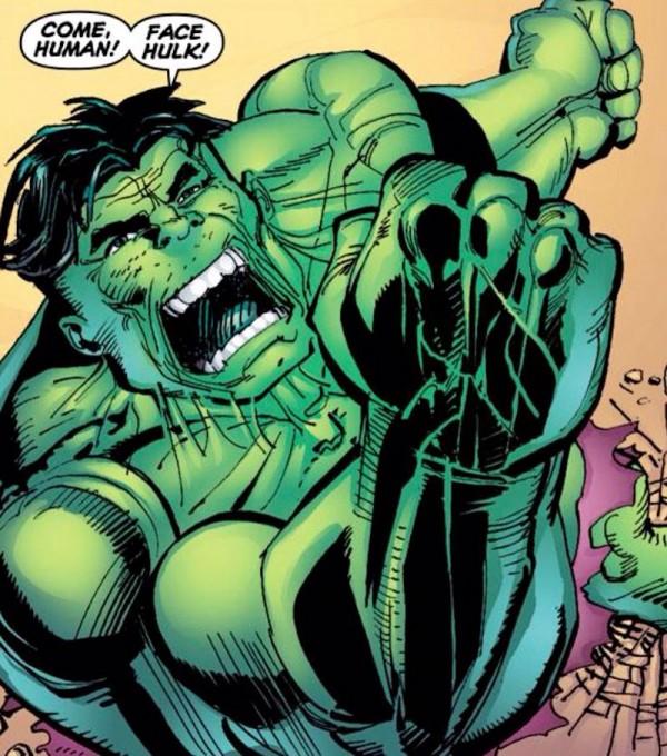 Et puis quand on fait Hulk, y a des figures imposées