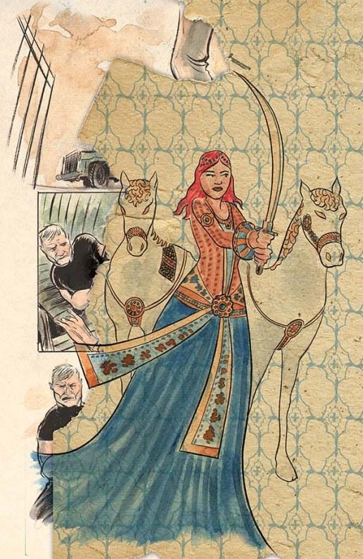 Meru Marlow, en guerrière médiévale