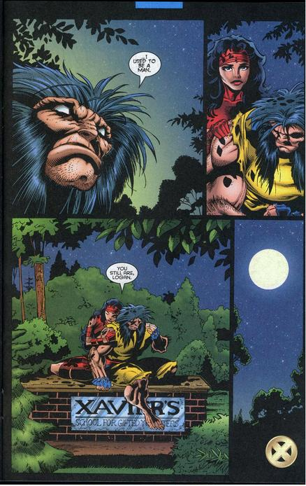 Wolverine, l'autre fils spirituel de Xavier réalise sa responsabilité dans sa transformation en Onslaught