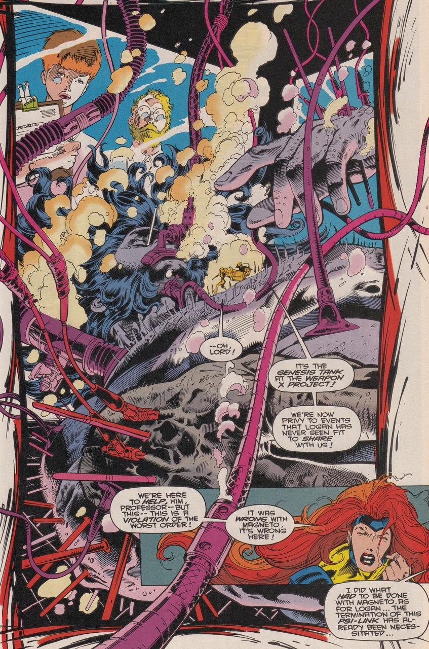 Wolverine constamment violé de corps et d'âme, obeservé, disséqué chez Larry Hama