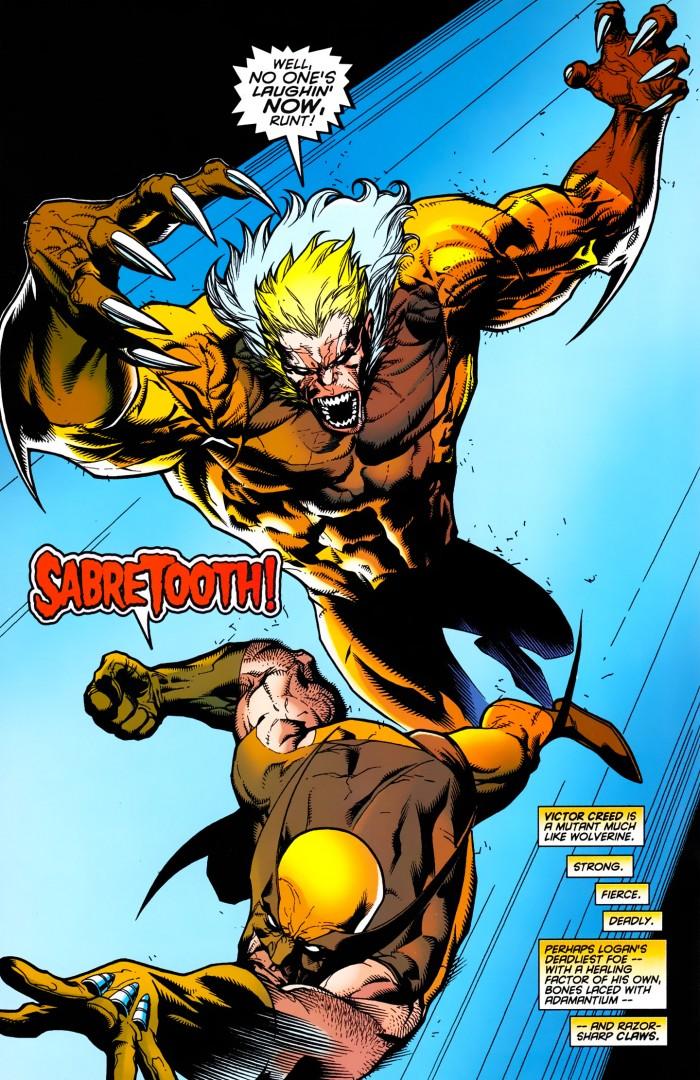 Wolverine # 145 : le retour de l'adamantium et de Sabretooth pour des abventures fades pour ne pas dire autre chose....