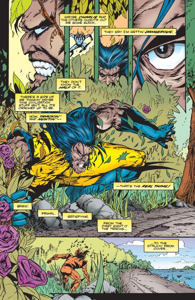 Mon épisode préféré: Wolverine par Duncan Rouleau sur la piste d un homme violent qui tabasse sa femme et son gosse. Une confrontation inattendue pour un final surprenant !