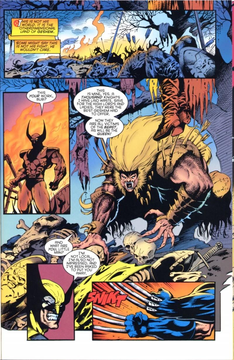 Knight of Terra propose un hors série divertissant avec Sabretooth dans le rôle de la bête du Gévaudan !