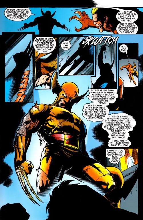En une page, Logan accepte de réintégrer son adamantium qu'il a si souvent rejeté....