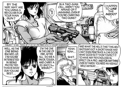 Des notes parfois réservées aux initiés: «Le pistolet Seburo C-25 n'est qu'une déclinaison du FN P90, of course!»