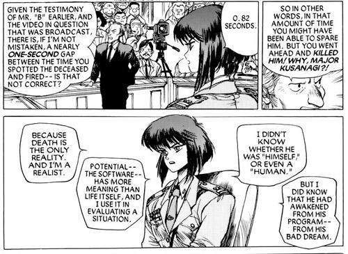 Traduite en justice, Kusanagi use d'une rhétorique un peu cryptique…