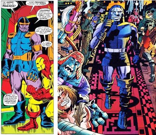 Thanos et Darkseid: deux super-vilains aux trognes «patibulaires mais presque»
