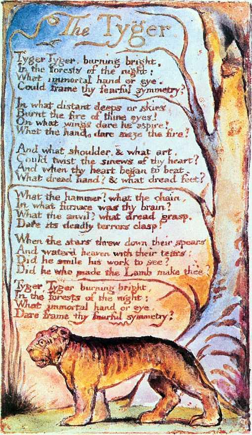 Do It Yourself: le poème fut illustré et imprimé par Blake