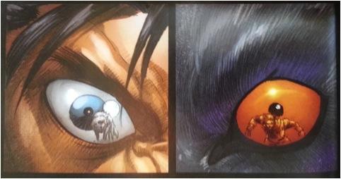 Détail d'une planche de Wolverine: Origin, le héros découvre et embrasse son animalité