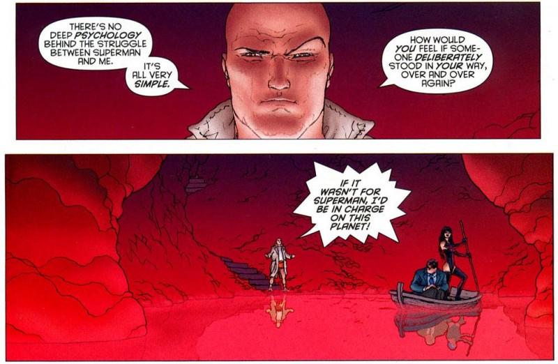 Lex Luthor et son sourcil machiavélique....