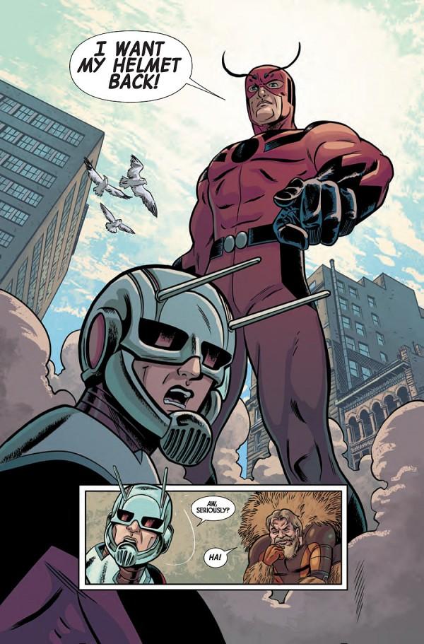 Hank Pym vient reprendre son costume d'Ant-Man