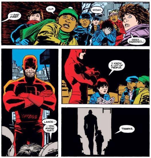 Daredevil aide encore les plus faibles