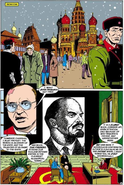 Mikhaïl Gorbatchev, sous le portait de Lénine