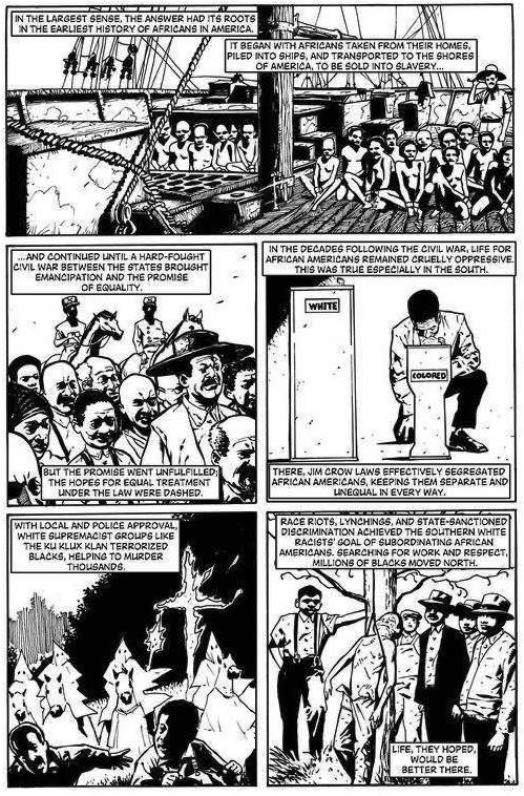 L'histoire des noirs aux États-Unis en 1 page d'oppression