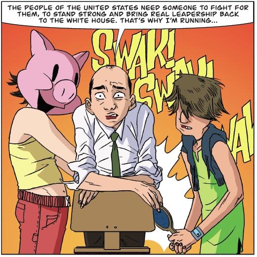 Un homme politique sérieux passant par les fourches caudines du divertissement
