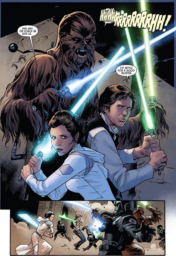 Ouais! Allez venez les copains, on dirait que tout le monde il sait se servir de son sabre-laser, d'accord?