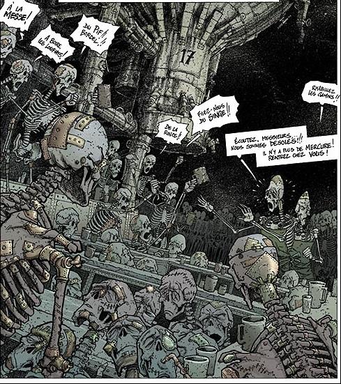 Même sans la peau sur les os, les morts peuvent encore picoler