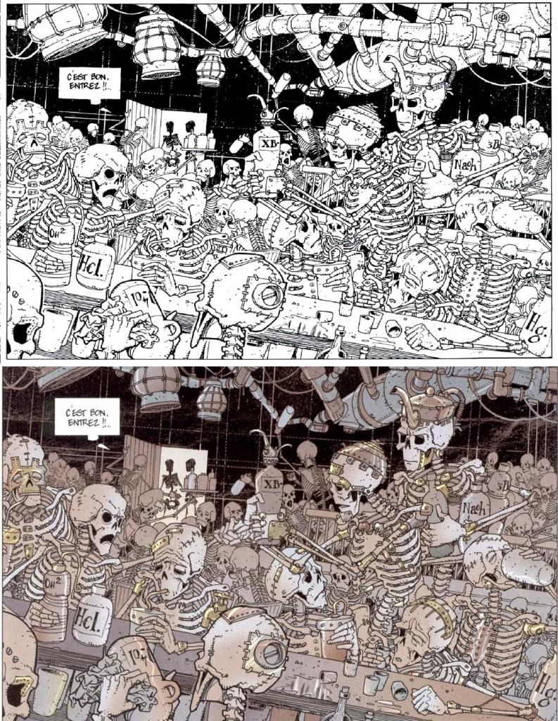 Comparaison noir et blanc/couleur Descendres