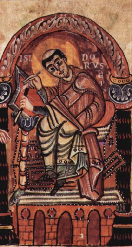 Lui, c'est Isidore de Séville, qui s'était mis en tête de faire une chronologie du monde en corrélant la Bible, la mythologie grecque et les historiens romains. Je vous raconte même pas le foutoir que c'est.