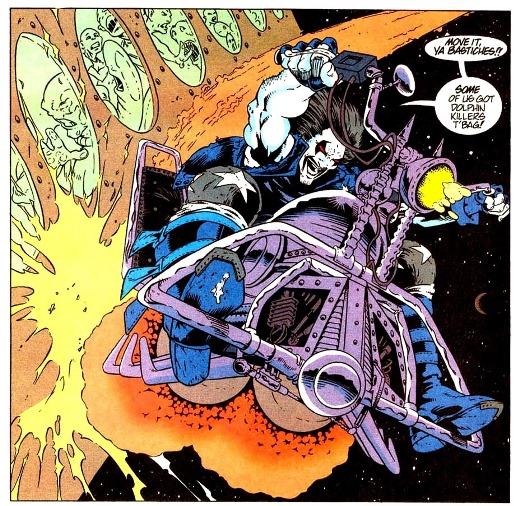 Le biker de l'espace