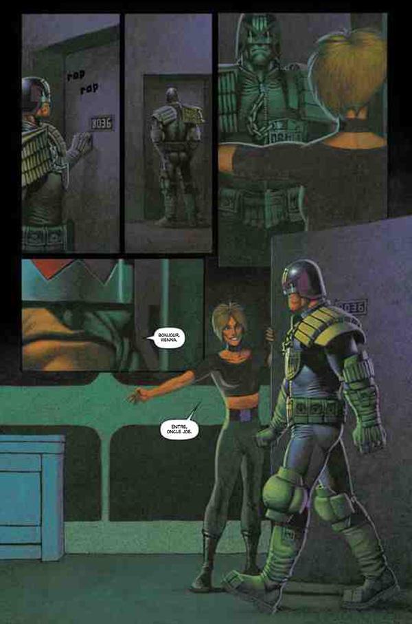 Dredd et sa nièce, sa fille.....c'est vraiment compliquée