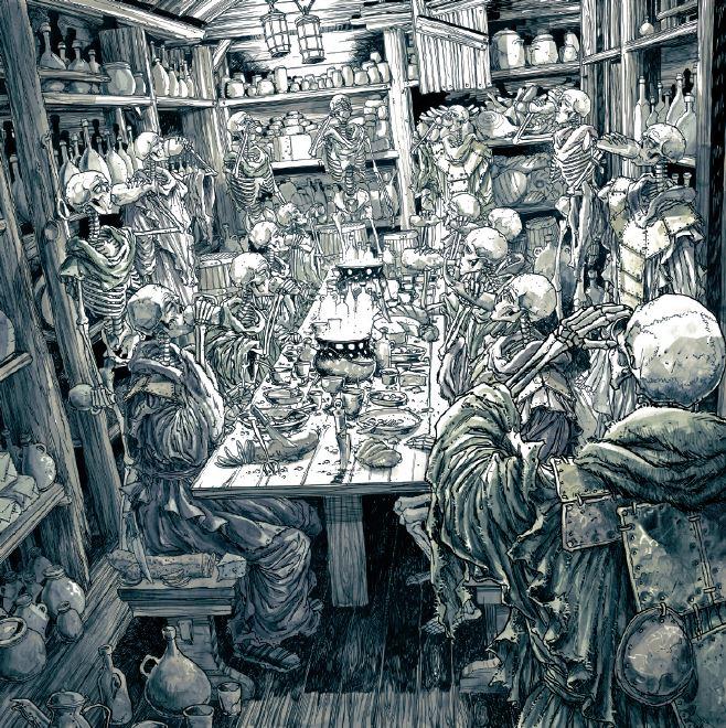 Un banquet chez les planqués du Purgatoire