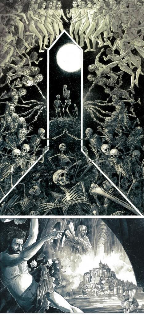 Des planches aux allures de fresques bibliques de la Renaissance