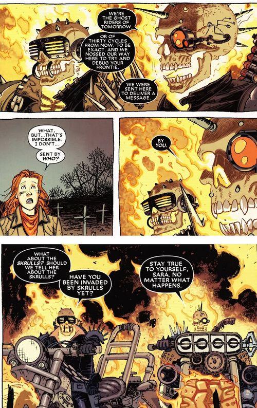 Les Terminator Riders qui feront l'unique lien avec le crossover du moment dans une blague