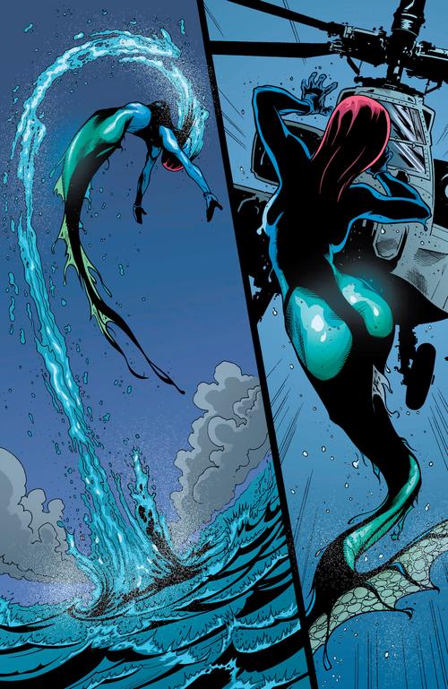 Mystique nous fait un cosplay de la petite sirène