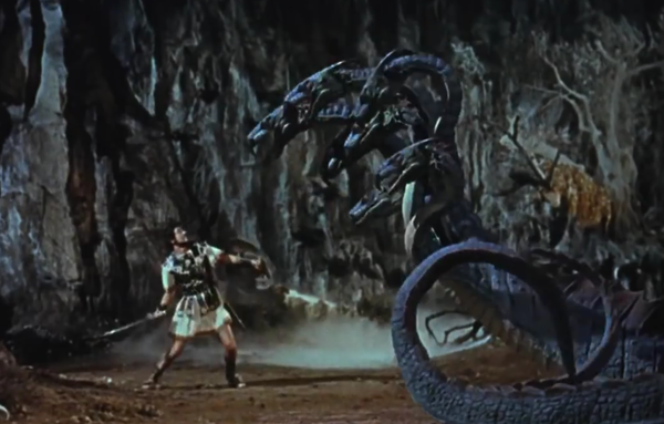 Le voyage fantastique de Sinbad, bien que moins réussi que le 7ème voyage en termes d'histoire, contient quelques scènes magnifiques comme le combat contre la statue de Kali   /photo libre de droits / source: http://intergalacticrobot.blogspot.com/2013/05/farewell-mr-harryhausen.html