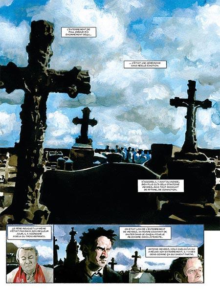 La BD commence dans un cimetière… Ou l'art de placer une ambiance!