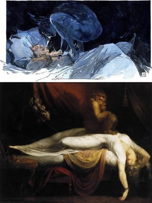 Guillaume Sorel se serait-il souvenu du Cauchemar de Füssli?