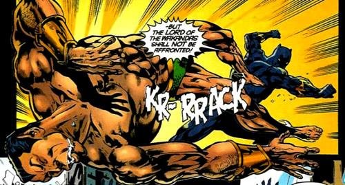 La Panthère vs Namor (la poussière)
