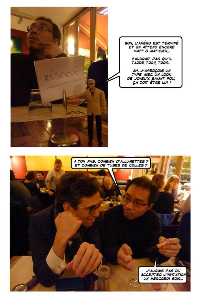 Matt et Maticien, fasciné par le travail de JP vient de se faire piquer sa réplique…
