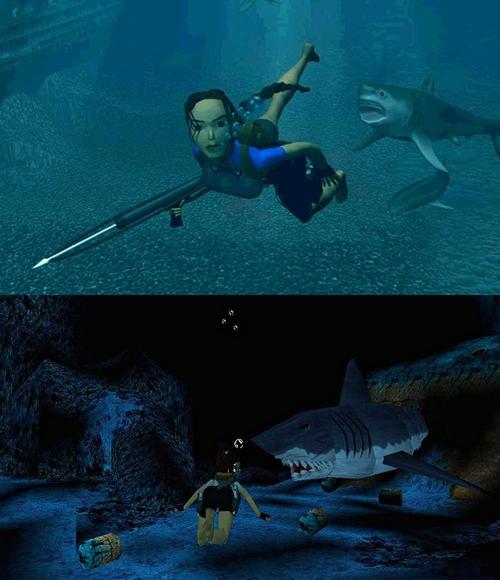 Les passages sous-marins stressants, un grand classique des Tomb Raider