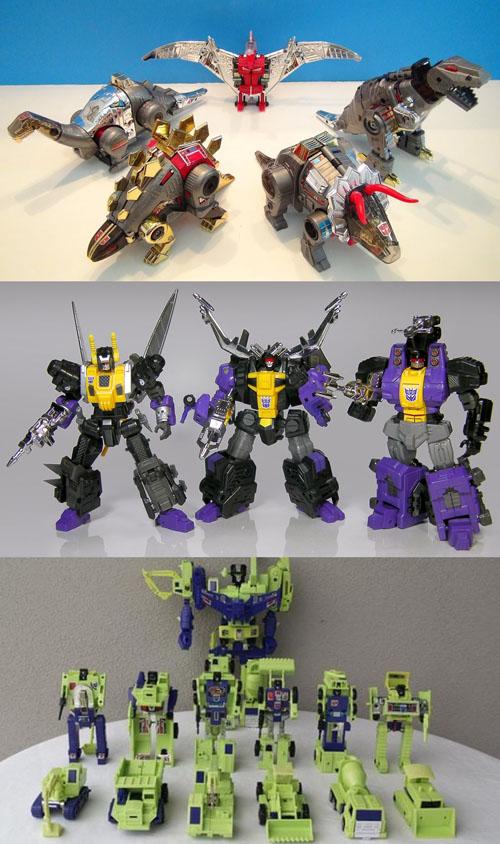 Dinobots, Insecticons, Constructicons, une gamme sans cesse renouvelée…