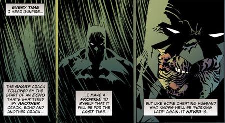Exemple de comparaison à la pertinence discutable: la guerre au crime de Batman et l'infidélité conjugale (?!?)