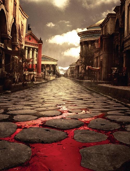Le magnifique concept de la série Rome: Presque du Frank Miller !