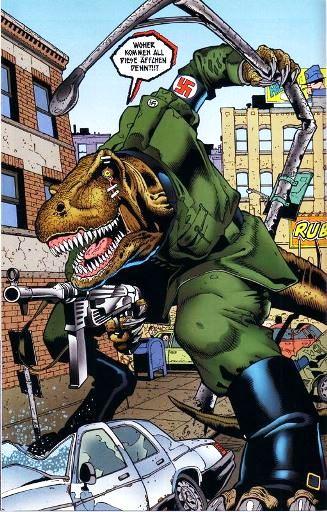 Un tyrannosaure anthropomophe nazi