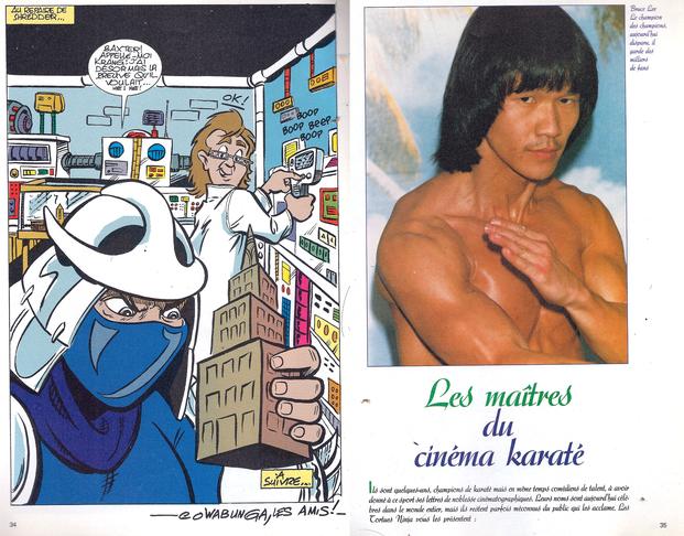 Et au détour d'une page de BD, on trouvait parfois des petits dossiers, comme celui-ci sur Bruce (l'autre)