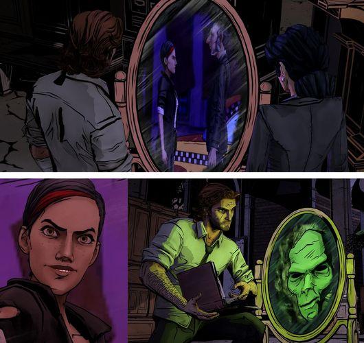 Si vous connaissez Bloody Mary, vous savez qu'elle a un truc avec les miroirs. Impossible de l'espionner à son insu. Une intelligente façon de mêler les éléments magiques à l'enquête.