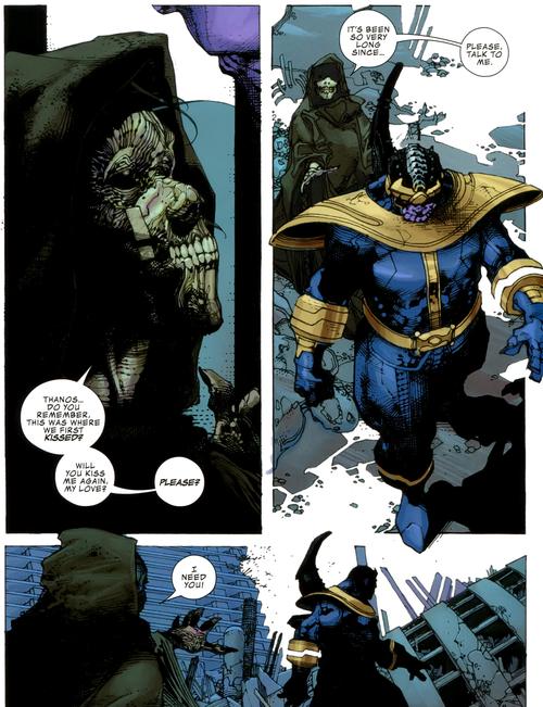Chez Aaron, c'est la mort qui pleurniche que Thanos ne lui parle plus comme une ex en dépression. La classe !