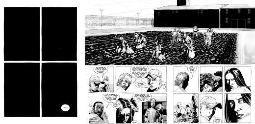 Walking Dead, c'est parfois le grand écart graphique, passant du noir aux détails.