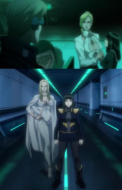 Emma Frost et Hisako, avant et après leur intégration dans l'équipe