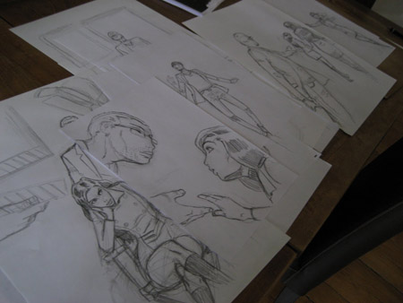 Une journée de travail et 6 compositions différentes avant de choisir celle de la couverture définitive de L'homme qui n'existait pas.