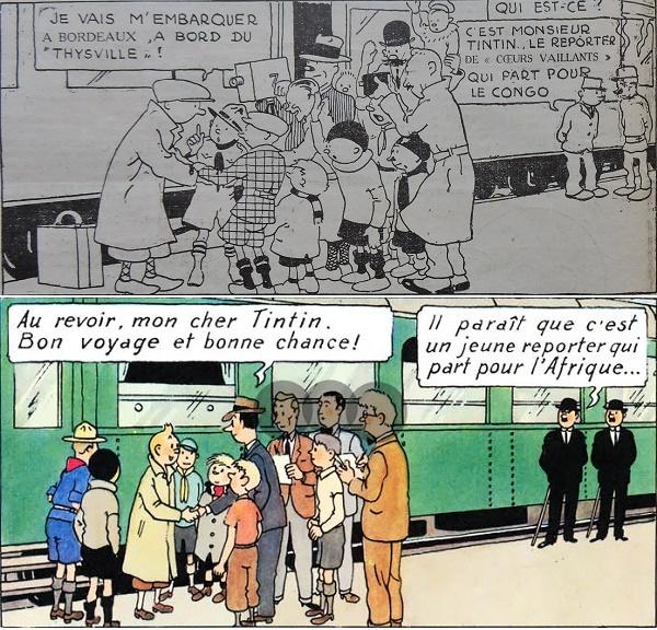De la rétro-continuité dans les aventures de Tintin…