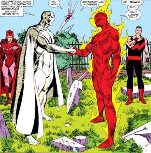 Busiek mettra douze épisodes d'Avengers Forever à tenter de réparer ce merdier
